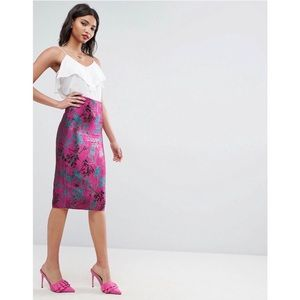 ASOS Jacquard Pencil Skirt